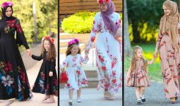 Anne Kız Tesettür Elbise Modelleri 2020 | Annah Hariri