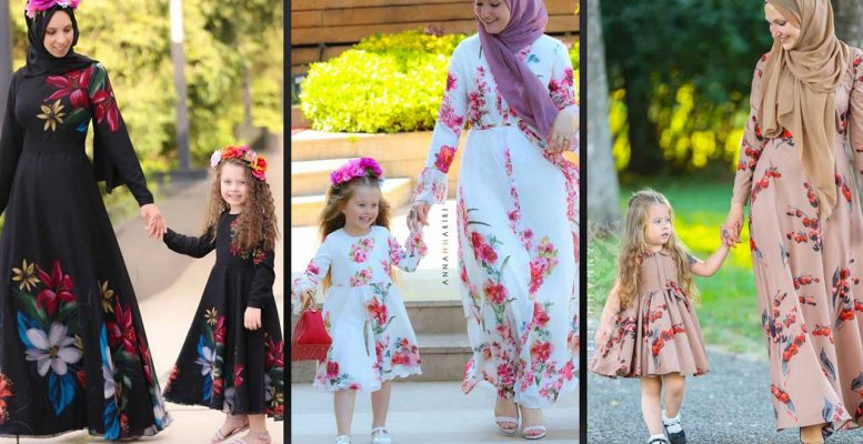 Anne Kız Tesettür Elbise Modelleri 2020   Annah Hariri