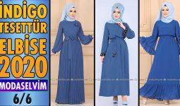 2020 Kış Modaselvim İndigo Tesettür Elbise Modelleri 6/6