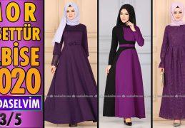 2020 Kış Modaselvim Mor Tesettür Elbise Modelleri 3/5 | Modaselvim Elbise Modelleri
