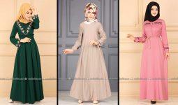 Modaselvim 2020 Kışlık Tesettür Elbise Modelleri 28/34   2020 Kışlık Modaselvim Elbise Modelleri