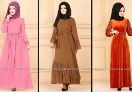 Modaselvim 2020 Kışlık Tesettür Elbise Modelleri 30/34 | 2020 Kışlık Modaselvim Elbise Modelleri