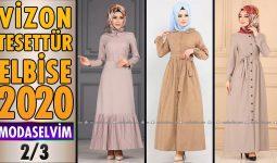 2020 Kış Modaselvim Vizon Tesettür Elbise Modelleri 2/3 | Modaselvim Elbise Modelleri
