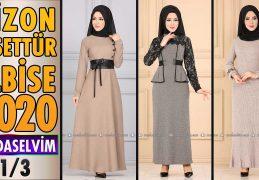 2020 Kış Modaselvim Vizon Tesettür Elbise Modelleri 1/3 | Modaselvim Elbise Modelleri