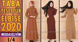 2020 Kış Modaselvim Taba Tesettür Elbise Modelleri 1/4 | Modaselvim Elbise Modelleri