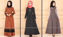 Modaselvim 2020 Kışlık Tesettür Elbise Modelleri 32/34   2020 Kışlık Modaselvim Elbise Modelleri