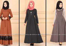 Modaselvim 2020 Kışlık Tesettür Elbise Modelleri 32/34 | 2020 Kışlık Modaselvim Elbise Modelleri