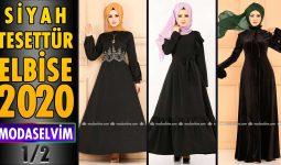 2020 Kış Modaselvim Siyah Tesettür Elbise Modelleri 1/2 | Modaselvim Elbise Modelleri