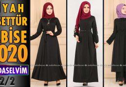 2020 Kış Modaselvim Siyah Tesettür Elbise Modelleri 2/2 | Modaselvim Elbise Modelleri