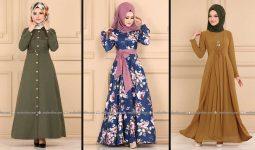 Modaselvim 2020 Kışlık Tesettür Elbise Modelleri 31/34   2020 Kışlık Modaselvim Elbise Modelleri