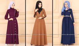 Modaselvim 2020 Kışlık Tesettür Elbise Modelleri 33/34   2020 Kışlık Modaselvim Elbise Modelleri
