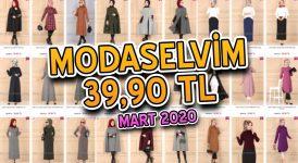 [2020 MART] ModaSelvim 39,90 TL Kampanyalı İndirimli Tesettür Ürünler   Elbise Modelleri