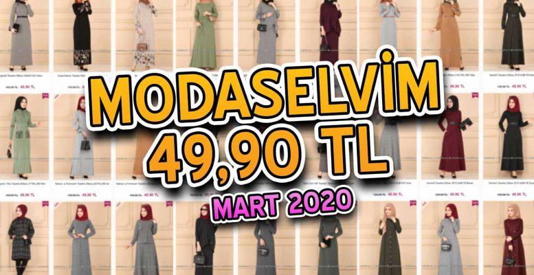 [2020 MART] ModaSelvim 49,90 TL Kampanyalı İndirimli Tesettür Ürünler   Elbise Modelleri