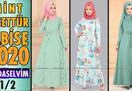 2020 Kış Modaselvim Mint Tesettür Elbise Modelleri 1/2 | Modaselvim Elbise Modelleri