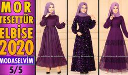 2020 Kış Modaselvim Mor Tesettür Elbise Modelleri 5/5 | Modaselvim Elbise Modelleri