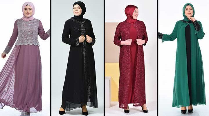 2020 Sefamerve Büyük Beden Abiye Elbise Modelleri 5   Plus Size Abendkleid - Evening Dress