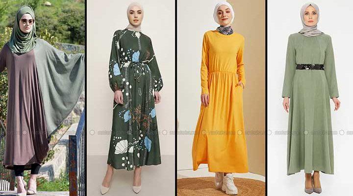 Modanisa 2020 İlkbahar Yaz Tesettür Elbise Modelleri Galeri 4 | Elbise Modelleri