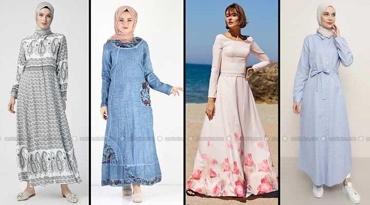Modanisa 2020 İlkbahar Yaz Tesettür Elbise Modelleri Galeri 5 | Elbise Modelleri