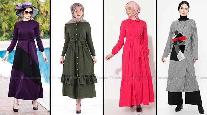 Modanisa 2020 İlkbahar Yaz Tesettür Elbise Modelleri Galeri 6 | Elbise Modelleri