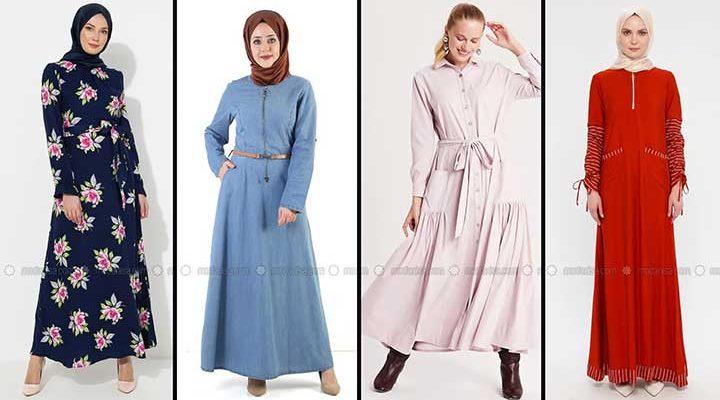 Modanisa 2020 İlkbahar Yaz Tesettür Elbise Modelleri Galeri 7 | Elbise Modelleri