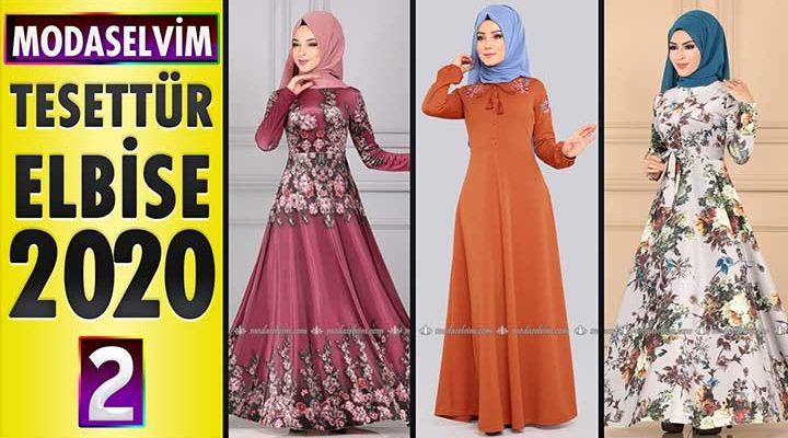 Modaselvim Elbise Modelleri 2020 [2] | Moda Selvim Yeni Sezon Tesettür Elbise Modelleri