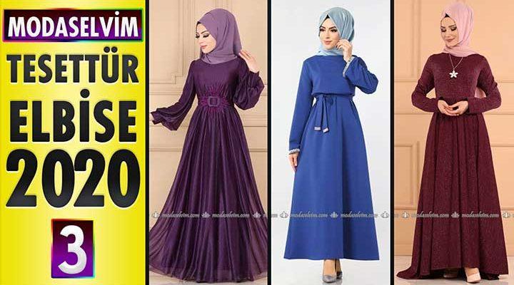 Modaselvim Elbise Modelleri 2020 [3]   Moda Selvim Yeni Sezon Tesettür Elbise Modelleri