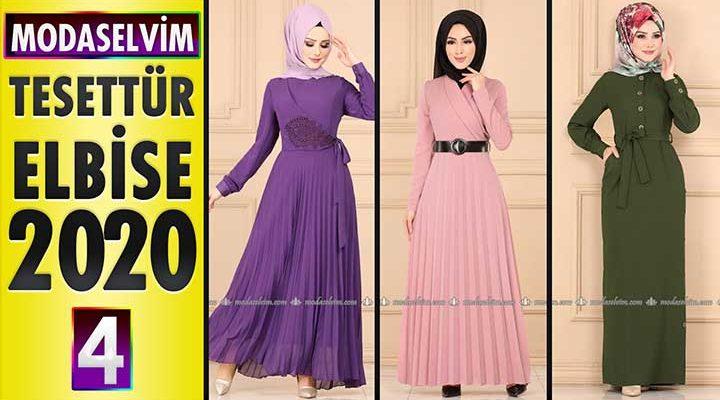 Modaselvim Elbise Modelleri 2020 [4] | Moda Selvim Yeni Sezon Tesettür Elbise Modelleri