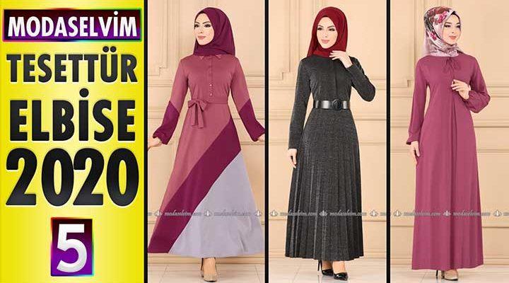 Modaselvim Elbise Modelleri 2020 [5]   Moda Selvim Yeni Sezon Tesettür Elbise Modelleri