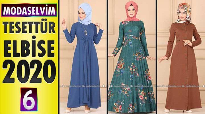 Modaselvim Elbise Modelleri 2020 [6]   Moda Selvim Yeni Sezon Tesettür Elbise Modelleri