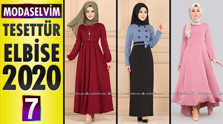 Modaselvim Elbise Modelleri 2020 [7]   Moda Selvim Yeni Sezon Tesettür Elbise Modelleri