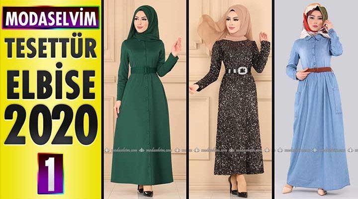 Modaselvim Elbise Modelleri 2020 [1]   Moda Selvim Yeni Sezon Tesettür Elbise Modelleri