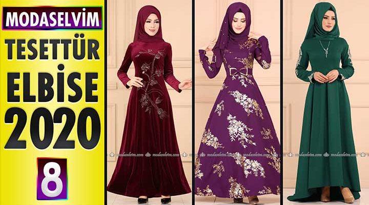 Modaselvim Elbise Modelleri 2020 [8]   Moda Selvim Yeni Sezon Tesettür Elbise Modelleri