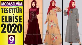 Modaselvim Elbise Modelleri 2020 [9] | Moda Selvim Yeni Sezon Tesettür Elbise Modelleri