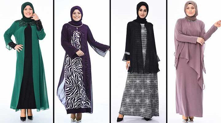 2020 Sefamerve Büyük Beden Abiye Elbise Modelleri 10   Plus Size Abendkleid - Evening Dress