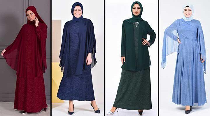 2020 Sefamerve Büyük Beden Abiye Elbise Modelleri 6   Plus Size Abendkleid - Evening Dress