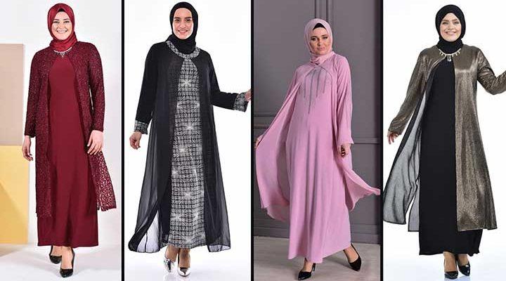 2020 Sefamerve Büyük Beden Abiye Elbise Modelleri 7   Plus Size Abendkleid - Evening Dress