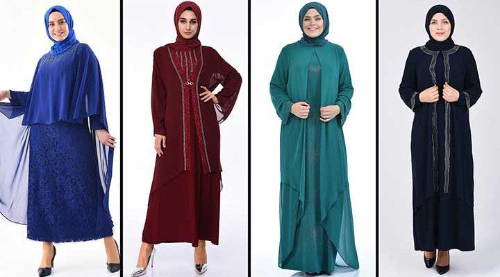 2020 Sefamerve Büyük Beden Abiye Elbise Modelleri 9 | Plus Size Abendkleid - Evening Dress
