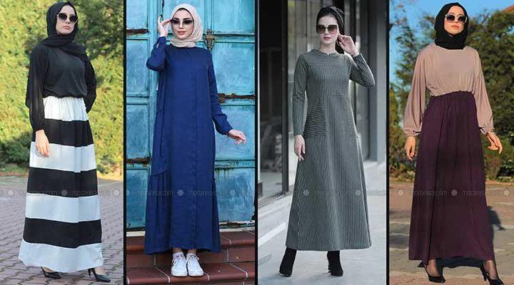 Modanisa 2020 İlkbahar Yaz Tesettür Elbise Modelleri Galeri 10   Elbise Modelleri
