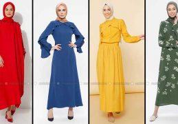 Modanisa 2020 İlkbahar Yaz Tesettür Elbise Modelleri Galeri 9 | Elbise Modelleri