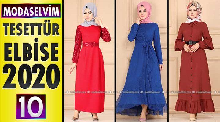 Modaselvim Elbise Modelleri 2020 [10]   Moda Selvim Yeni Sezon Tesettür Elbise Modelleri