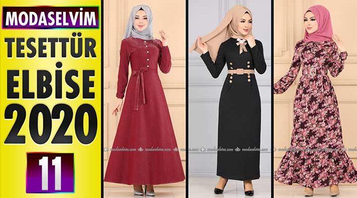 Modaselvim Elbise Modelleri 2020 [11] | Moda Selvim Yeni Sezon Tesettür Elbise Modelleri