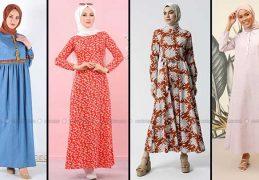 Modanisa 2020 İlkbahar Yaz Tesettür Elbise Modelleri Galeri 12 | Elbise Modelleri