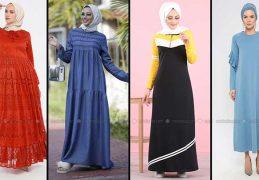 Modanisa 2020 İlkbahar Yaz Tesettür Elbise Modelleri Galeri 14 | Elbise Modelleri