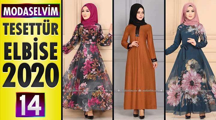 Modaselvim Elbise Modelleri 2020 [14]   Moda Selvim Yeni Sezon Tesettür Elbise Modelleri