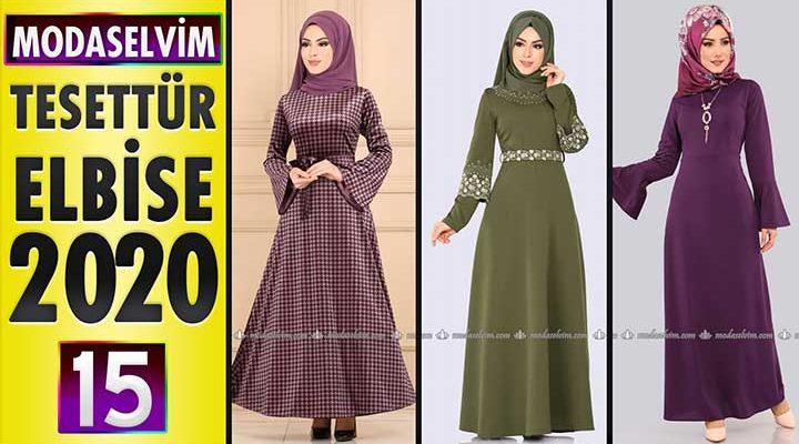 Modaselvim Elbise Modelleri 2020 [15]   Moda Selvim Yeni Sezon Tesettür Elbise Modelleri