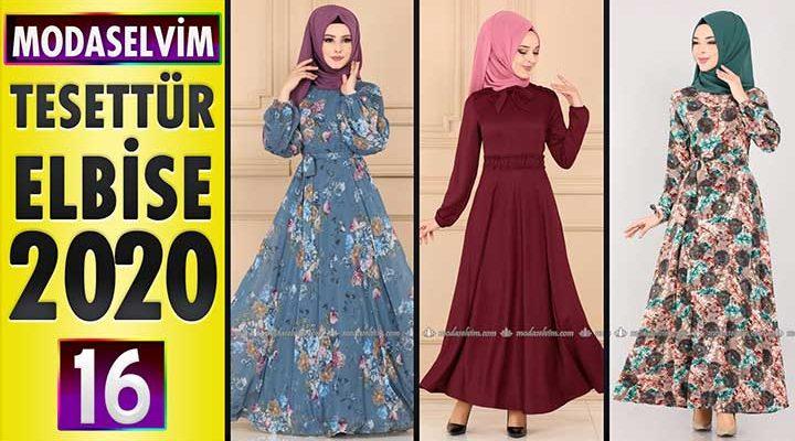 Modaselvim Elbise Modelleri 2020 [16]   Moda Selvim Yeni Sezon Tesettür Elbise Modelleri