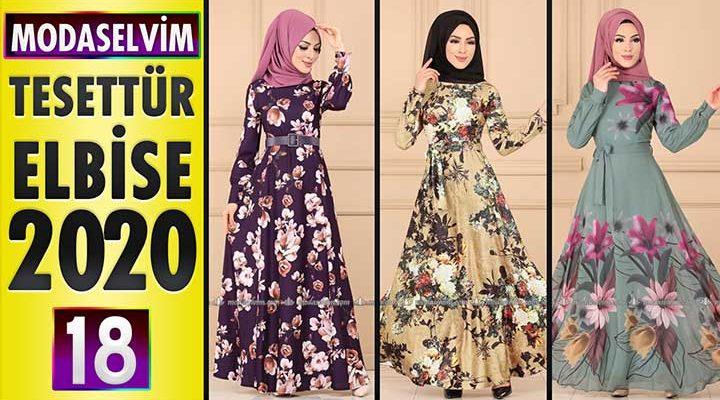 Modaselvim Elbise Modelleri 2020 [18] | Moda Selvim Yeni Sezon Tesettür Elbise Modelleri