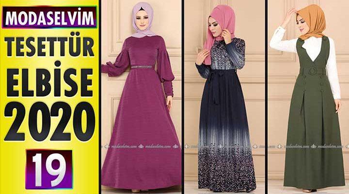 Modaselvim Elbise Modelleri 2020 [20]   Moda Selvim Yeni Sezon Tesettür Elbise Modelleri
