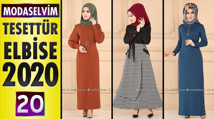Modaselvim Elbise Modelleri 2020 [20] | Moda Selvim Yeni Sezon Tesettür Elbise Modelleri