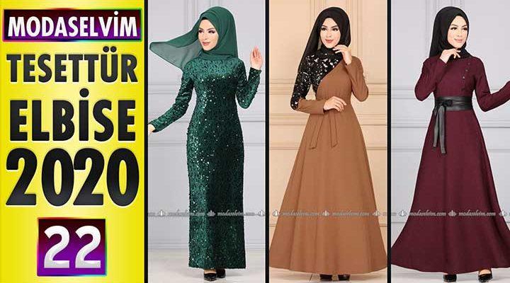 Modaselvim Elbise Modelleri 2020 [22]   Moda Selvim Yeni Sezon Tesettür Elbise Modelleri